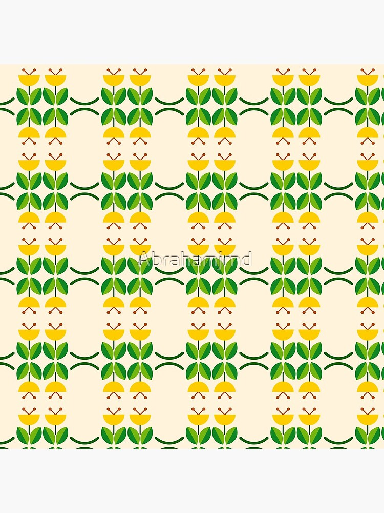 flat design floral beauty seamless colorful repeat pattern by Abrahamjrnd