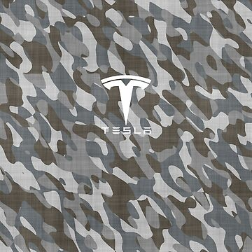 Tesla Camo Stickers by roccoyou