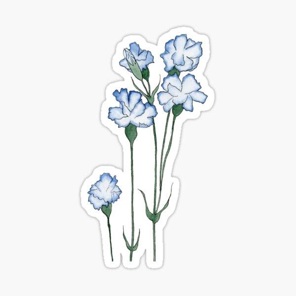 Blue Carnation  Sticker