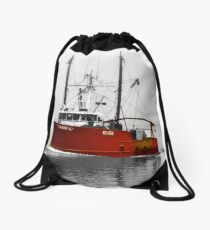 Red Boat Drawstring Bag
