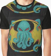 Cthulhu/Bat Symbol Graphic T-Shirt