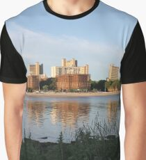 New York City, Buildings, Water, Grass, Gulf, Nature, View, #NewYorkCity, #Buildings, #Water, #Grass, #Gulf, #Nature, #View Graphic T-Shirt