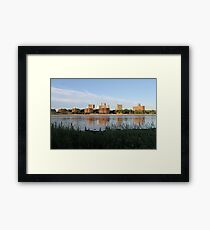New York City, Buildings, Water, Grass, Gulf, Nature, View, #NewYorkCity, #Buildings, #Water, #Grass, #Gulf, #Nature, #View Framed Print