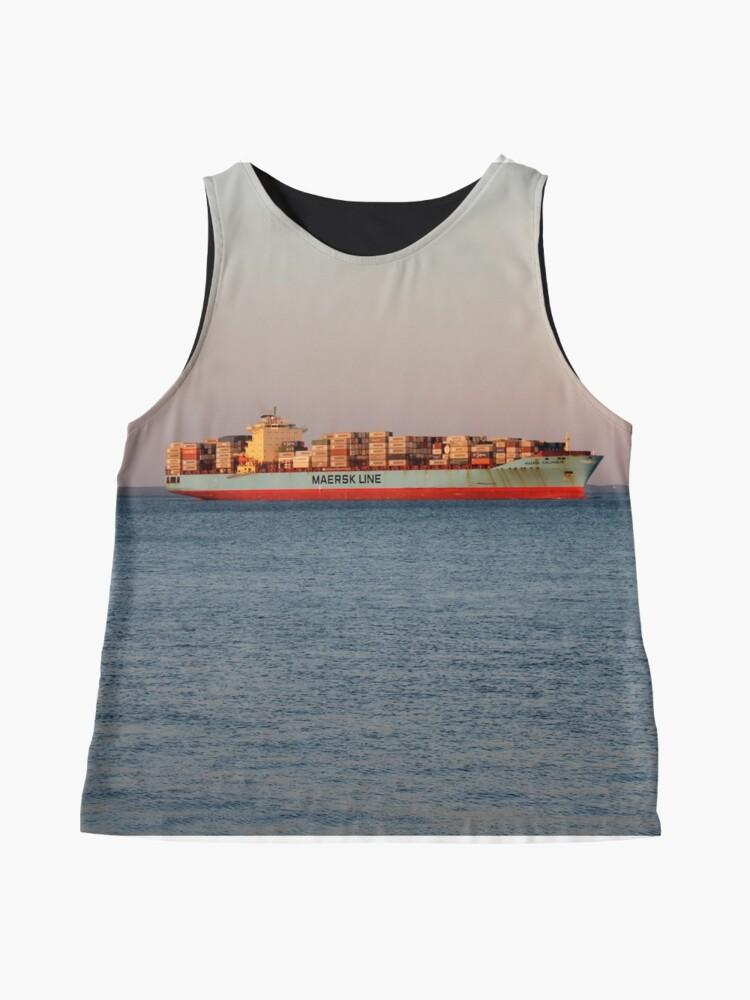 Alternate view of New York City, ship, container ship, water, #NewYorkCity, #ship, #ContainerShip, #water Sleeveless Top
