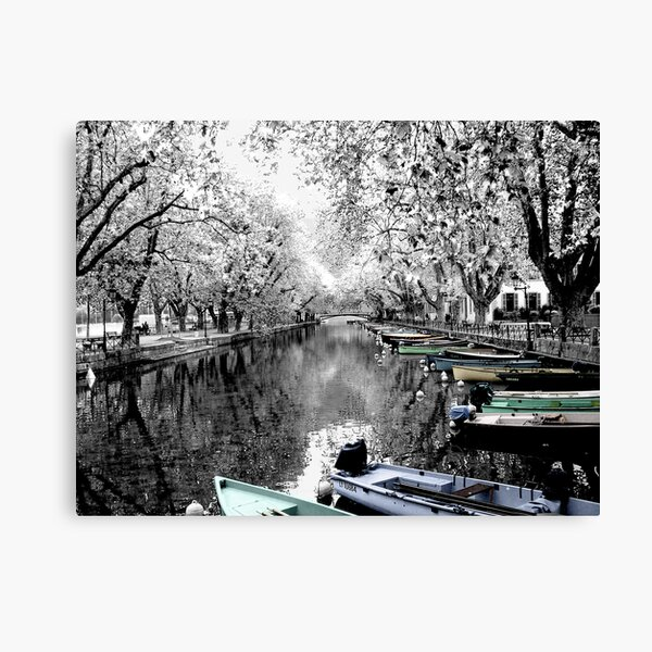 Boats at Annecy, France Canvas Print