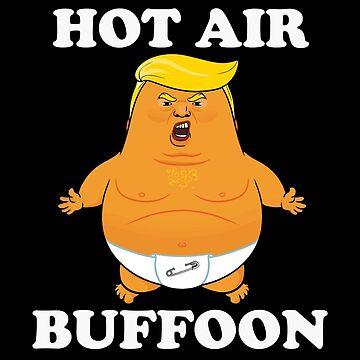 Funny Anti Trump Shirt Hot Air Buffoon Baby Trump Balloon  by GiftTees