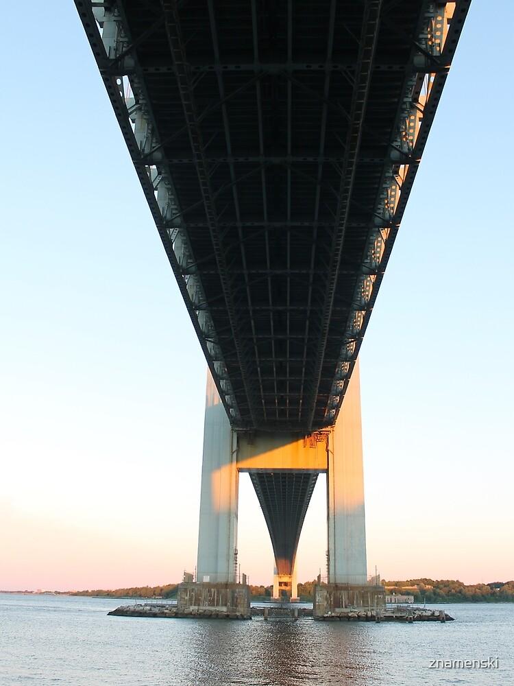 Verrazano-Narrows Bridge, morning, dawn, #VerrazanoNarrowsBridge, Verrazano Bridge, #VerrazanoBridge, #bridge, #morning, #dawn by znamenski