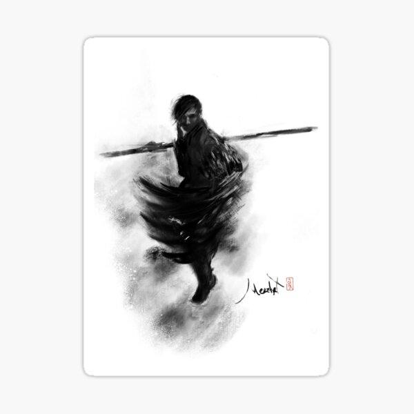 Mysterious Warrior Monk Sticker