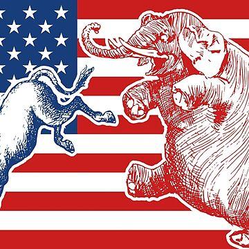 Democrats VS Republicans - Donkey VS Elephant by radvas