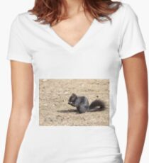 Do you mind? I'm trying to eat. Women's Fitted V-Neck T-Shirt