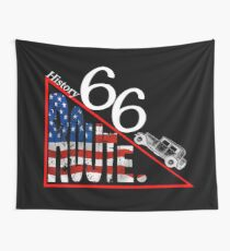 The History Route 66 vintage novelty gifts. Wall Tapestry