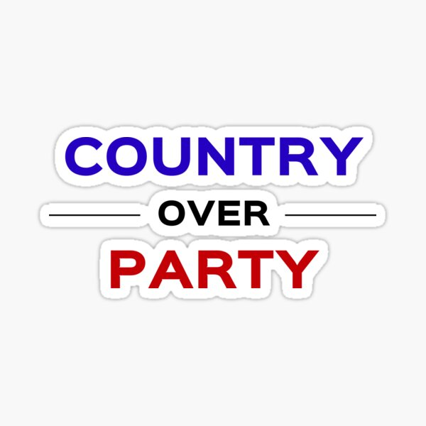 Country over party Sticker