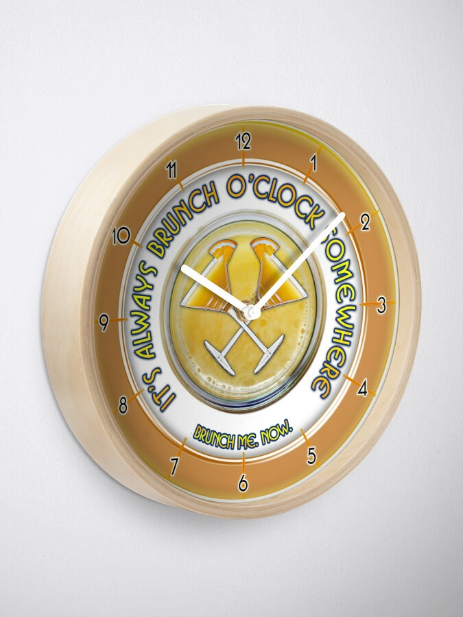 Alternate view of Brunch O'Clock Clock