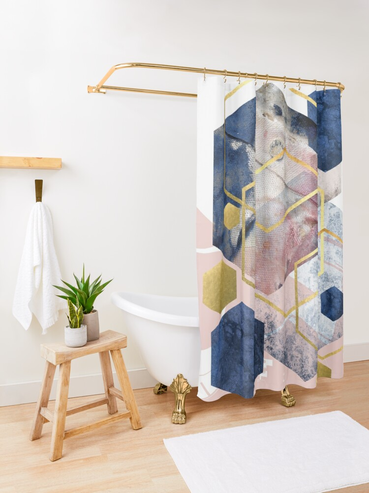 Alternate view of Abstract Geo Shower Curtain