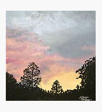 Pink and Yellow Sunset Photographic Print