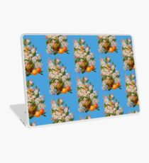 Victorian Orange Blossoms and Fruit Vintage Scrapbook Flowers Laptop Skin