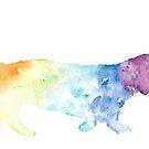 Rainbow Dachshund  by BreezePics