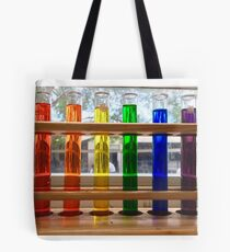 Rainbow test tubes Tote Bag