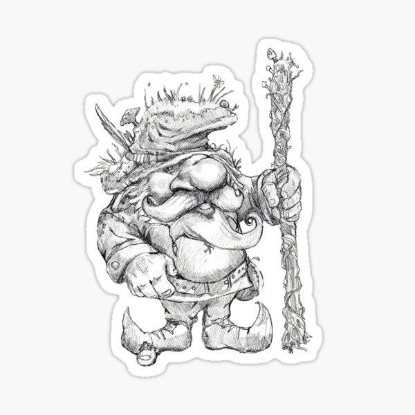 Mossy Gnome Sticker