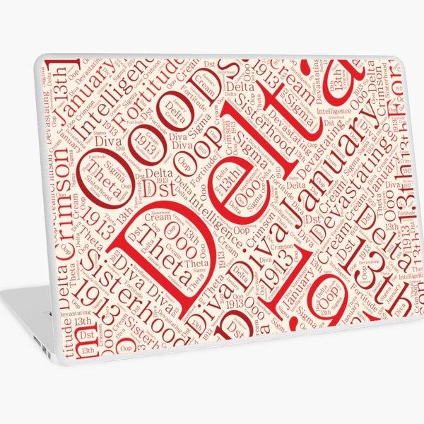 Delta Diva Word Art Laptop Skin