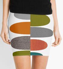 Mid-Century Modern Ovals Mini Skirt