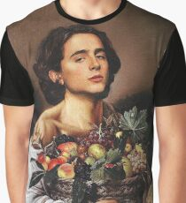 Timothee Chalamet Painting Meme Graphic T-Shirt