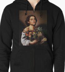 Sudadera con capucha y cremallera Timothee Chalamet Painting Meme