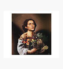 Timothee Chalamet Painting Meme Photographic Print