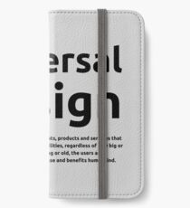 Universal Design iPhone Wallet/Case/Skin