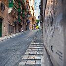 A Valletta Street by Jakov Cordina
