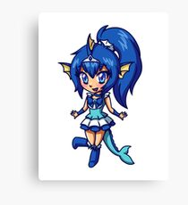 Vaporeon Magical Girl Chibi Canvas Print