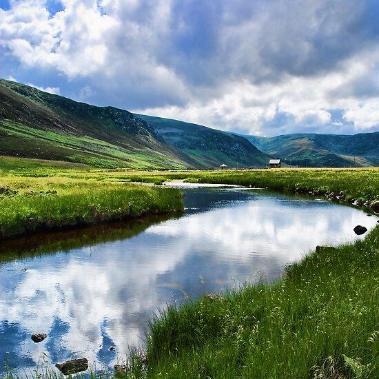 Reflection in Glen Esk by Panalot