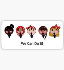 She Can Do It! Sticker
