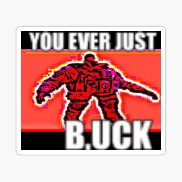 YOU EVER JUST B,UCK Sticker