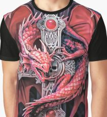 Dragon and cross Graphic T-Shirt