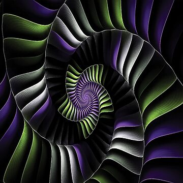 Star Spiral Fractal by ColorfulMystic