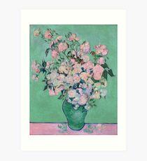 Pink Roses in a Vase, Vincent van Gogh Art Print