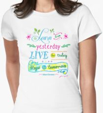 Learn from Yesterday, Live for Today no background by Jan Marvin Women's Fitted T-Shirt