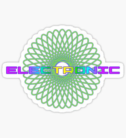 Electronic Psychedelic Sticker