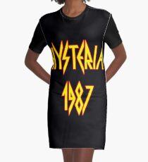 Hysteria 1987 Graphic T-Shirt Dress
