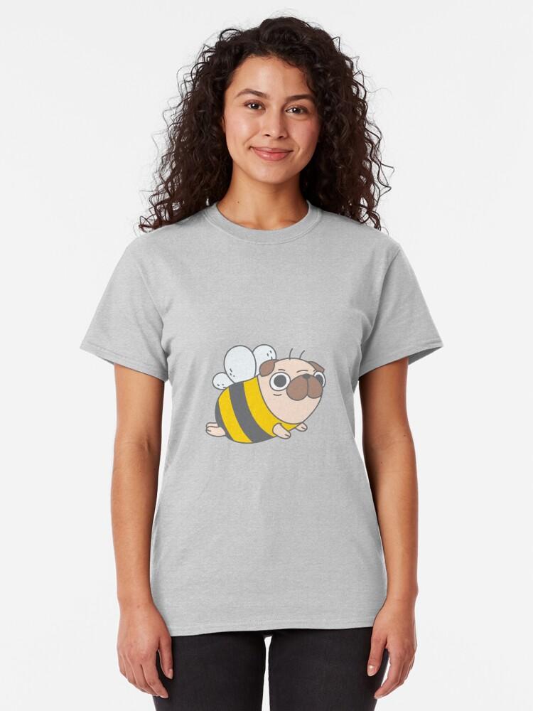 Alternate view of Pug Bee Classic T-Shirt