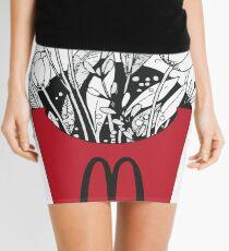 Flowers in McDonalds fries pack Mini Skirt