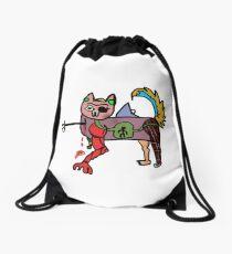 rard the cat Drawstring Bag
