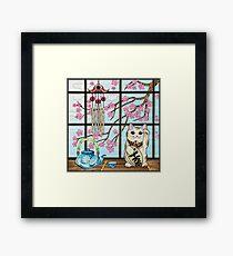 Good Luck Kitty Framed Print