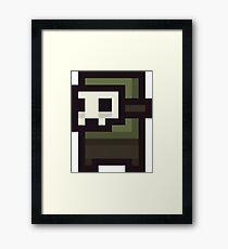 8Bit Masked Avenger Framed Print
