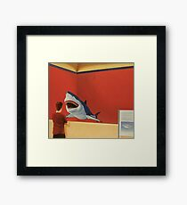White Shark I (Stand Off) Framed Print