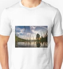 Sunset from the reeds  Unisex T-Shirt