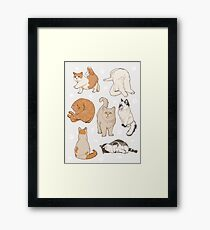 literally just a bunch of cats Framed Print
