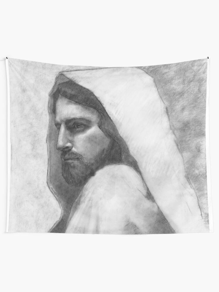 Alternate view of Savior Jesus Christ Tapestry