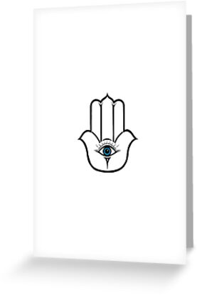 Simple Modern Hamsa Hand of Fatima by Blkstrawberry